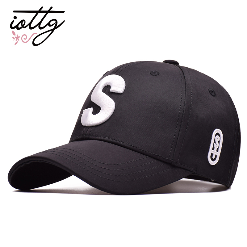 IOTTG 2018 High Quality S Logo Embroidery Baseball Cap Compound Cotton Fashion Snapback Hat Sports Leisure Hip Hop Hats Cap discount hot wholesale boy girl kid fashion hip hop snapback hat embroidery character style active novelty children baseball cap