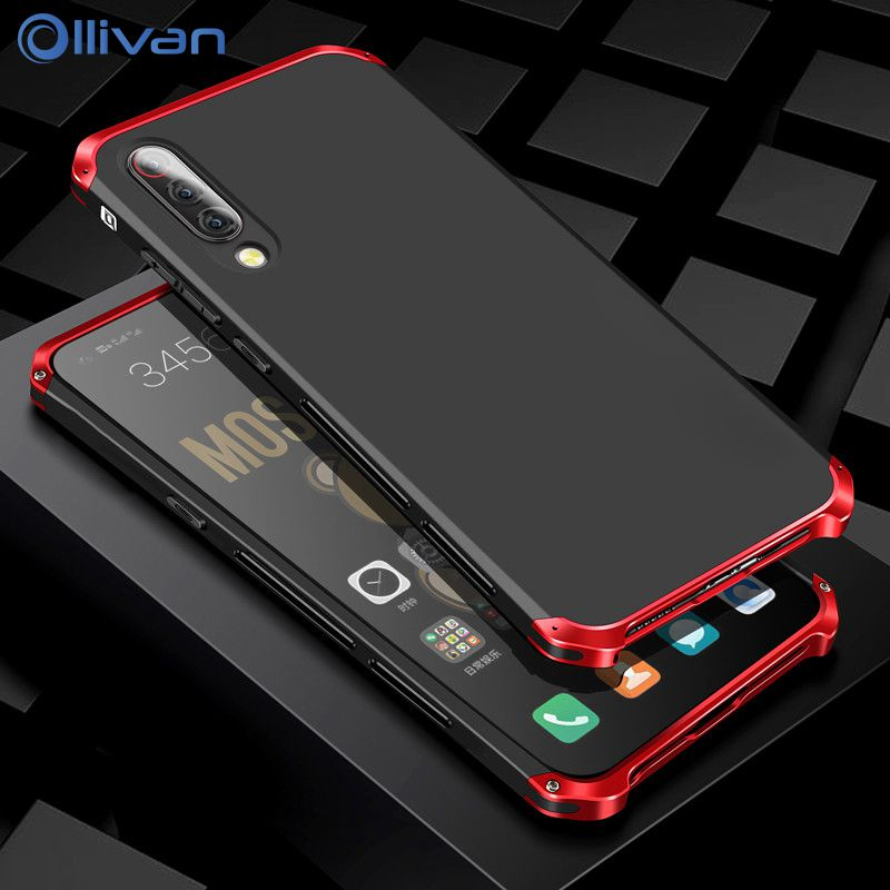 Luxury Metal Armor Hard PC Case For XiaoMi 9 9se RedMi Note 7 Aluminum Shockproof Protection Bumper For XiaoMi XioMi 8 8se Cover