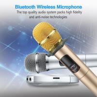 K18U Professional Bluetooth Microphones Handheld UHF Wireless Double Microphones With Receptor Various Frequency 10 Channel