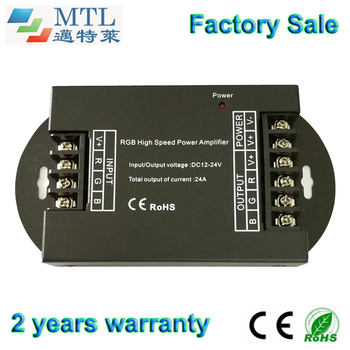 RGB amplifier signal repeater 12-24V/24A, 5 pcs/lot, for 3528/5050 RGB strip, factory wholesale
