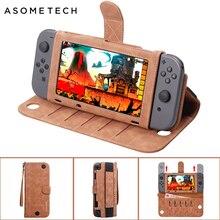 Tragbare Leder Tasche Für Nintendo Schalter Multi funktionale Spiel Karte Lagerung Abdeckung Fall Für Nintend Schalter Konsole Zubehör