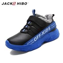 JACKSHIBO Kid Snow Boots Winter Shoes for Children Waterproof Warming Sneakers botas Anti Skid Plush inside