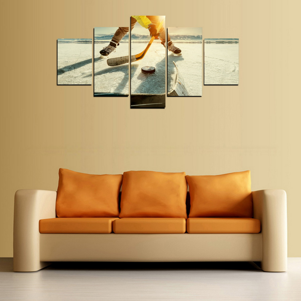 HD Picture Canvas Print Ice Hockey Painting for Living Room Wall Art ...