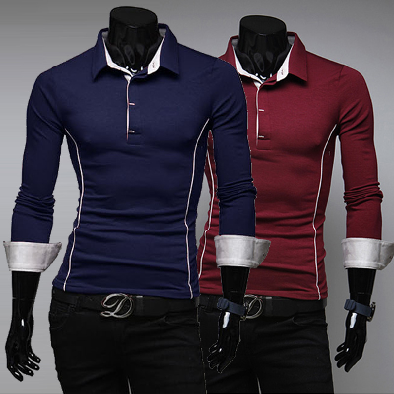 2014 autumn long sleeve t shirt top designer slim tight for Best long sleeve shirts for men