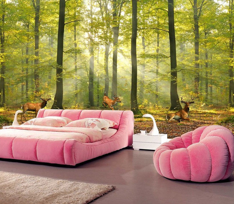 Custom Mural 3D Photo Wallpaper Forest Norwegian Elk Wallpaper TV Background Wall For Hotel Lobby Living Room Bedroom Decoration spring abundant flowers rich large mural wallpaper living room bedroom wallpaper painting tv background wall 3d wallpaper