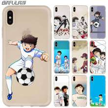 Coque pour iPhone 11 Pro 2019 X XS Max XR pour iPhone 5 5S SE 6S 6 4 4S 7 8 Plus Captain Tsubasa Ozora Genzo football(China)