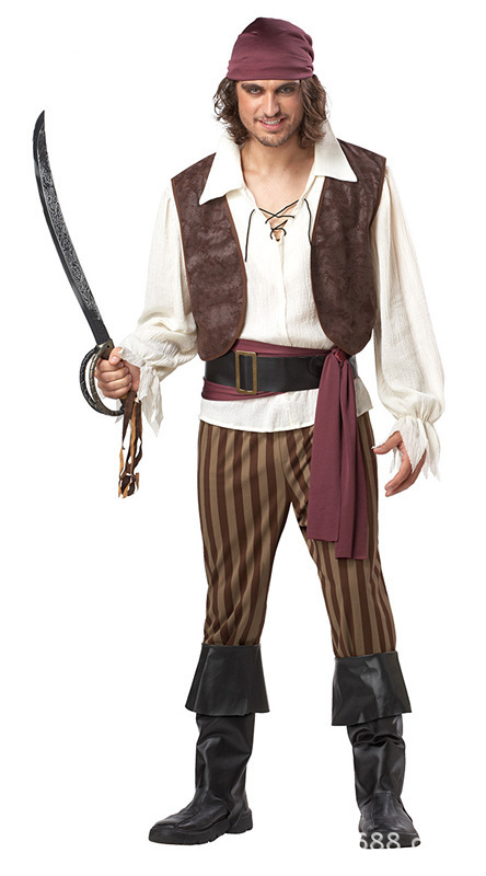 Aliexpress.com  Comprar Más tamaño cosplay de los hombres de Halloween  pirata Piratas del Caribe Halloween diablo traje tamaño m L XL de costume  pirate ... feaddef90d9