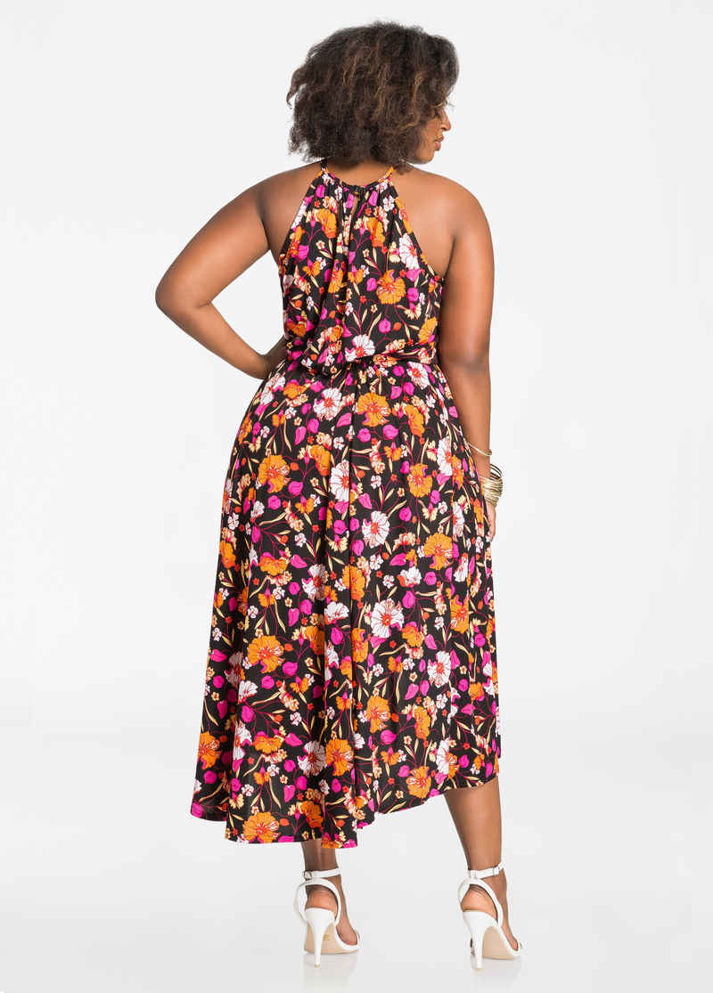 2017 Indiase Sari Jurken Qj5200 Amazon Standaard Europese En Amerikaanse Oversized Vrouwen Sexy Digital Print Bretels Jurk
