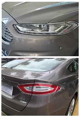 Front Headlight + Rear Tail Light Lamp Cover TRIM for FORD FUSION 2013 2014|for ford fusion|light trim|trim cover - title=