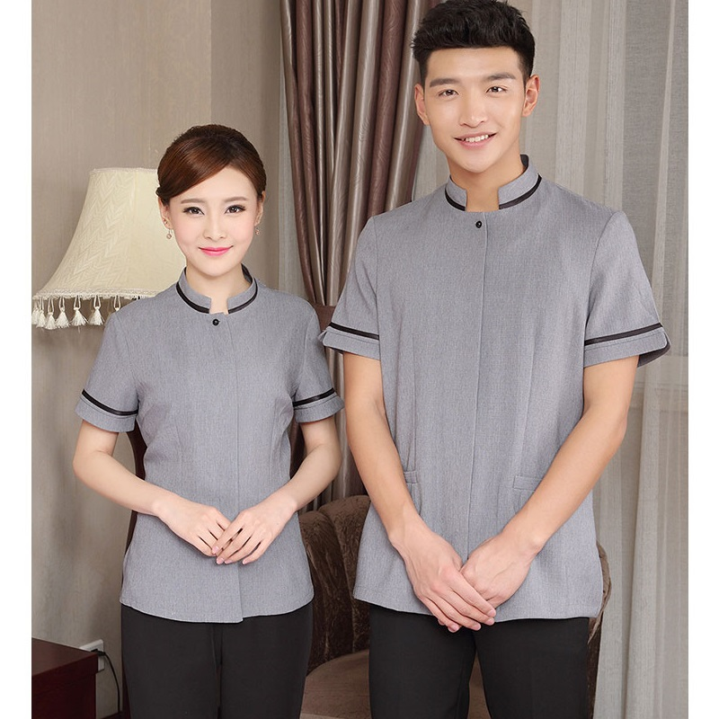 Summer Pant Short-Sleeves Attendants Workwear Cleaning-Clothes Property Rooms Hotels