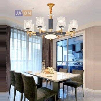 Led e14 железные в стиле постмодерн хрустальная люстра освещение Lustre подвесной светильник Lampen для фойе спальни
