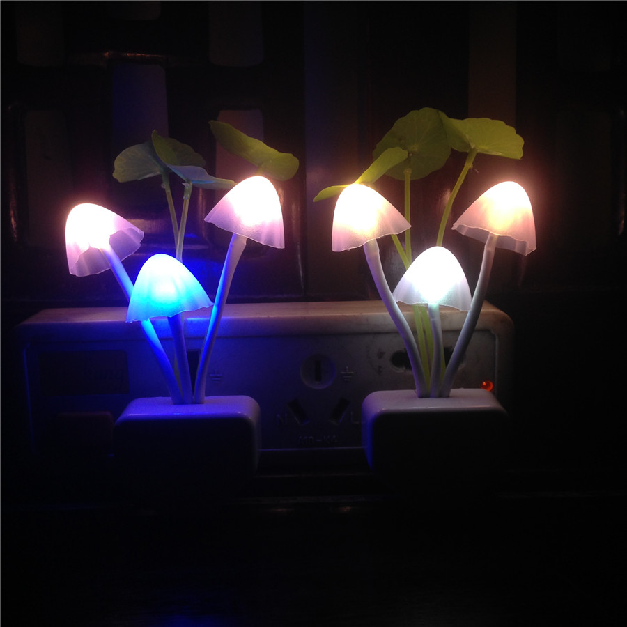 100v 220vac us eu romantic color changing kids night light for Kids room night light