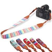 مللي. l. meilyadigital بوهيميا كاميرا الكتف حزام جلد + القطن الرقبة حزام حزام لل slr dslr كانون نيكون سوني باناسونيك مايكرو