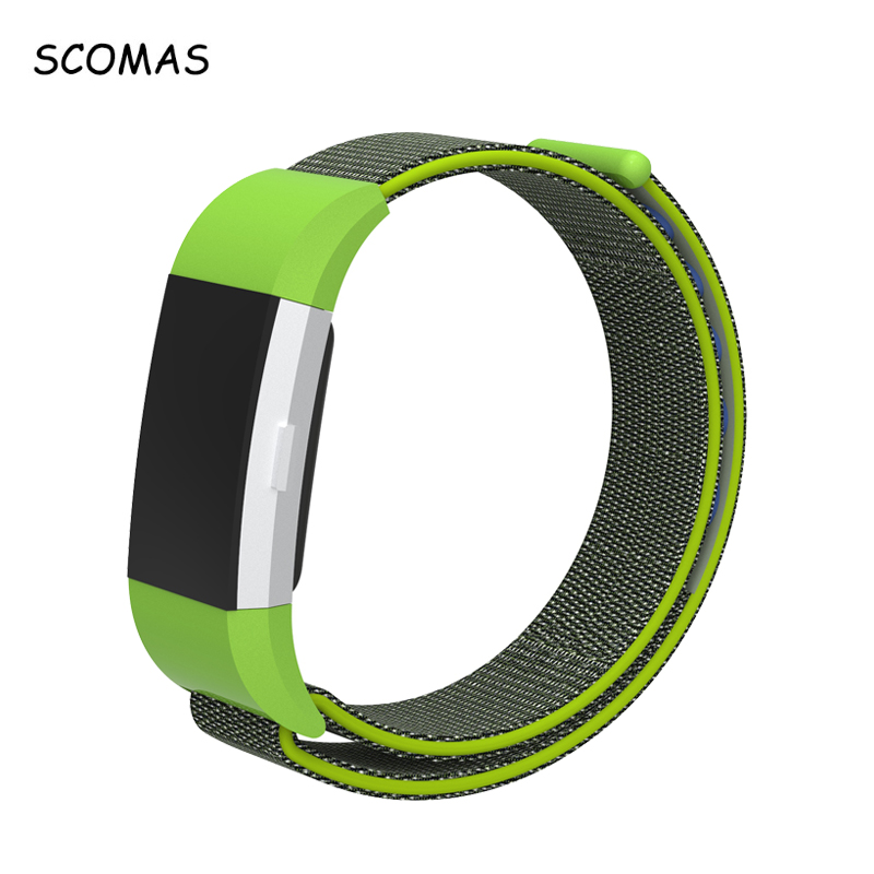 SCOMAS For Fit Bit Charge 2 Smart Tracker Nylon Magnetic Loop Breathable Replacement Strap for Fitbit Charge2 Wrist Band Adjust