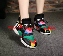 New 2017 Air Mesh Spring Women Flats Shoes Lace-up Rainbow Women Sheep Tennies Shoes casual Shoes Flats Patch Breathable Flats