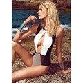 Mujeres Atractivas Del Club Del Mono de 2015 Del Verano Sin Mangas Del O-cuello de bodycon Mamelucos Sling Cruz Backless del traje de Baño Bikini Pieza Pantalones S-XL