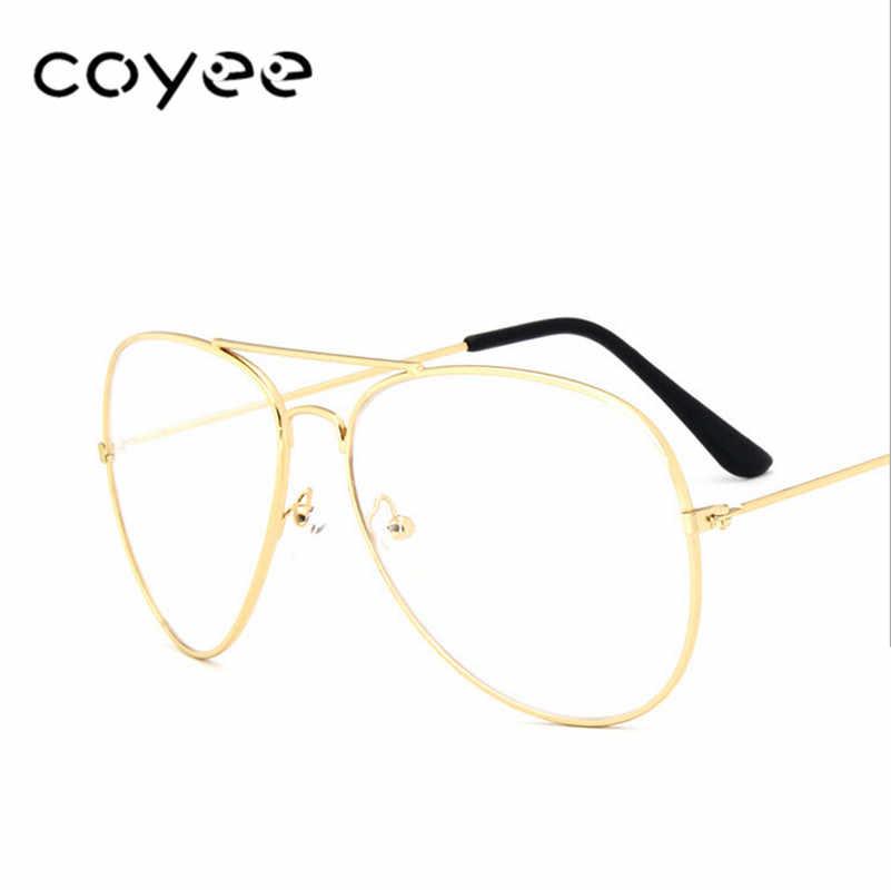 1c1729aa63480 ... Aviator Glasses Frames Women Men Pilot Eyewear Frames Clear lens  Ultralight Oversize Glasses Vintage Retro Spectacles ...