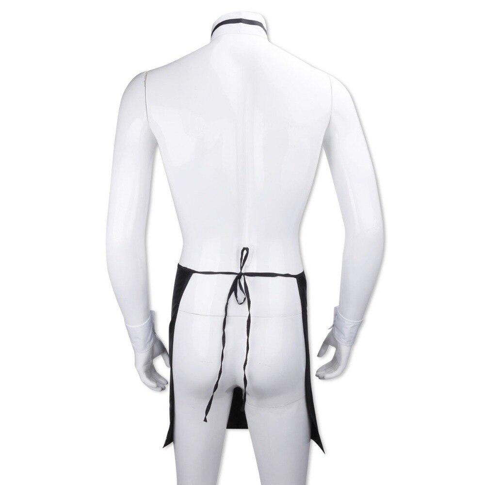 Men Bow Tie Collar Cuffs Stripper Set Butler Waiter Dress Up Valentines Costume