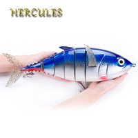 Hercules 1pcs Fishing Lure 40cm 1027g 3D Eyes 6 Segment Lifelike Fishing Hard Lure Crankbait 2 Hook Fishing Baits Pesca Cebo