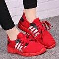 De las mujeres ocasionales del deporte y zapatos frescos femeninos rojo zapatos inferiores suaves de la señora de ocio al aire libre zapatos de alta calidad zapatillas deportive
