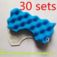 30 set vacuum cleaner filter for replacement Samsung vacuum cleaner filter VCA VM HEPA 45P VM 45P SC43 47 SC43 SC47 series