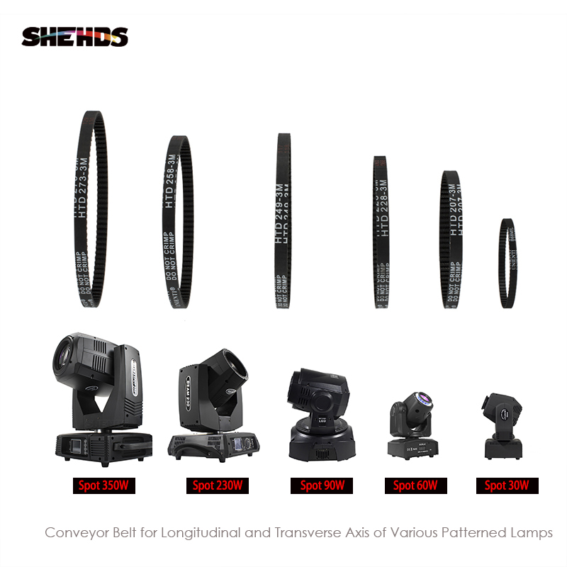 SHEHDS Moving Head Beam Light XY Axis Closed 2GT Loop Timing Belt Rubber For Spot 230W/350W/90W/60W/30W Synchronous Belt Parts