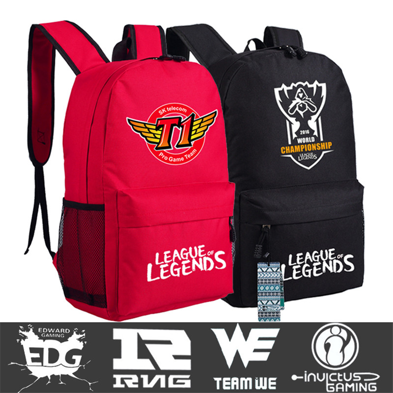 We Term Dota League Of Legends Lol Omg We S6skt1 Backpack Book Students Shoulder Bag Cosplay Gift 45x32x13cm