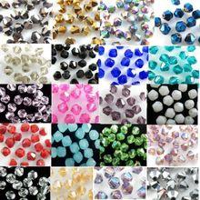 Высокое качество, 4 мм, 200 шт, AAA Биконусы, высококлассные бусины из австрийского хрусталя, свободные шарики, поставка AB, цветное покрытие, для изготовления ювелирных изделий, сделай сам