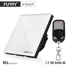 Funry ЕС Стандартный 1 Gang дистанционный переключатель, Smart Управление включения-выключения для Умный дом, Смарт настенный выключатель, умная лампа переключатель