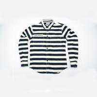 قماش السجن شريط قميص رجل طويلة الأكمام يتأهل القطن البحرية tommis camisa الغمد أوم رجل موتور الملابس الخريف