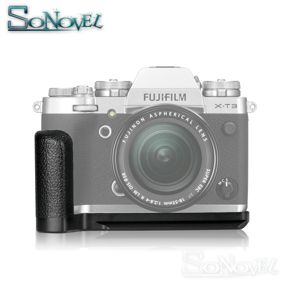 Plaque de fixation rapide verticale en alliage d'aluminium Meike MK-XT3G support de prise en main pour appareil photo Fujifilm Fuji X-T3 XT3