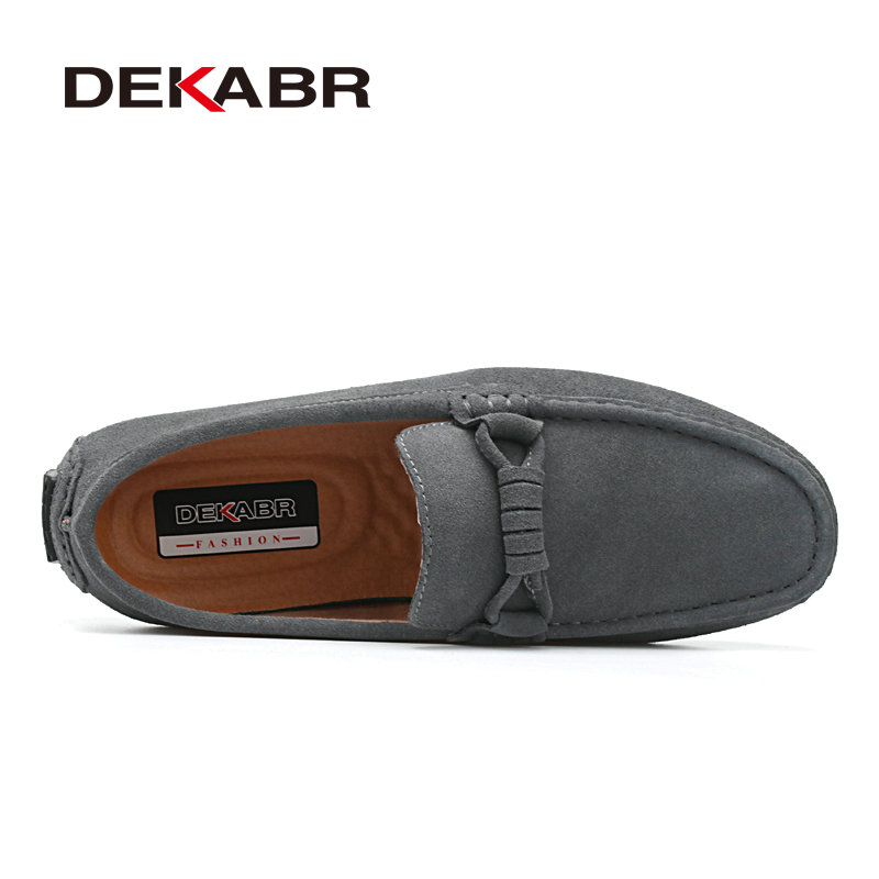 Image 2 - DEKABR New 2020 Men Cow Suede Loafers Spring Autumn Genuine Leather Driving Moccasins Slip on Men Casual Shoes Big Size 38~46moccasins menmoccasin loafers menmoccasins men loafers -