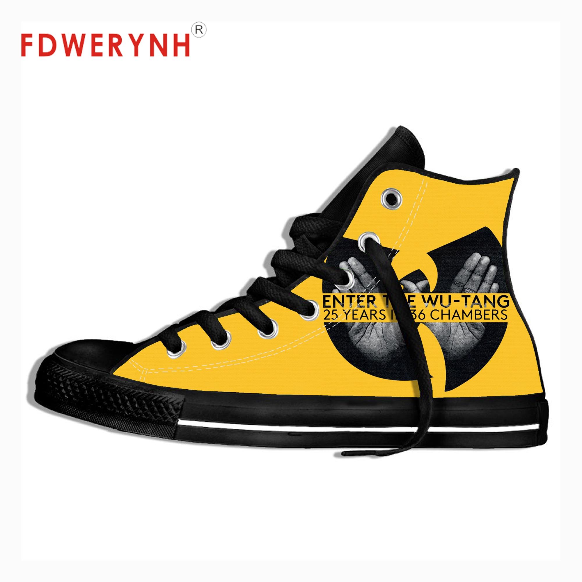 Men's Vulcanize Shoes C.R.E.A.M. DARE Wu-Tang Clan 3D Printed Outdoor Breathable Leisure Casual Shoes Zapatos De Hombre