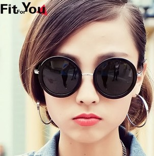 Новый nonmainstream ретро принц очки большие круглое зеркало рама солнцезащитные очки ( 3 color микс )