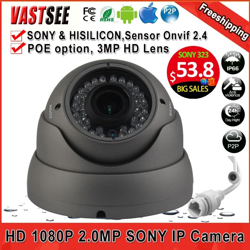 2MP POE ip font b camera b font 1080P ONVIF 2 4 room dome sony imx323