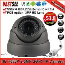 2MP POE ip cámara 1080 P ONVIF 2.4 sala de la cúpula de sony sensor imx323 36IR interior a prueba de vandalismo 2.8-12 MM lente de zoom de cámaras de segurança