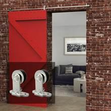 LWZH-Juego de herrajes para Puerta Corredera de madera, Puerta de acero inoxidable, en forma de T, 4-9,6 pies, para Puerta individual