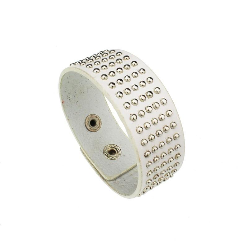 мода диких заклепки широкий кожаный браслет s5305