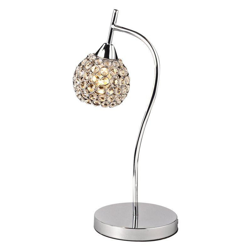 Modern Silver/Golden Crystal Bedroom Desk Lamps Living Room Table Lamps Luxury Bedsides table Light Wall Sconces Fixtures small size modern bedroom bedsides crystal table lights chrome base square crystal tiny size study room desk lighting fixtures