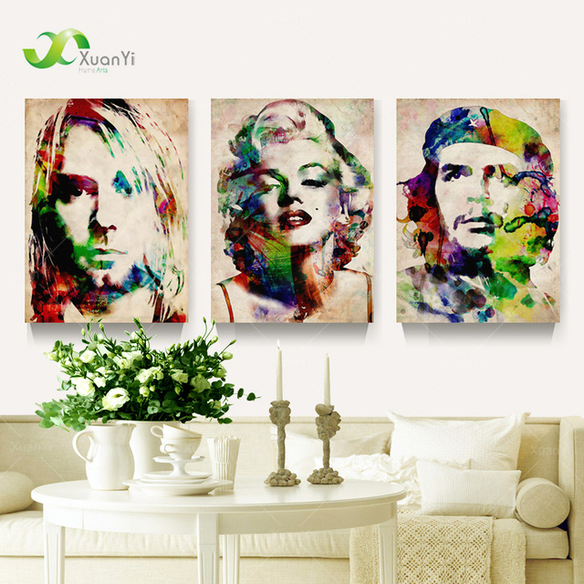 Marilyn Monroe Cuadro 3 Panel Abstract Portrait Marilyn Monroe Pop Art Painting
