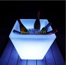 24Keys Remote Colorful illuminated LED Ice Bucket Square Waterproof,PP glow Led flower Plant SLIDE Y-Pot LIGHT WIRELESS BATTERY color changeable led drink illuminated sphere flower pot waterproof led light ellipse champagne bucket cooler planter