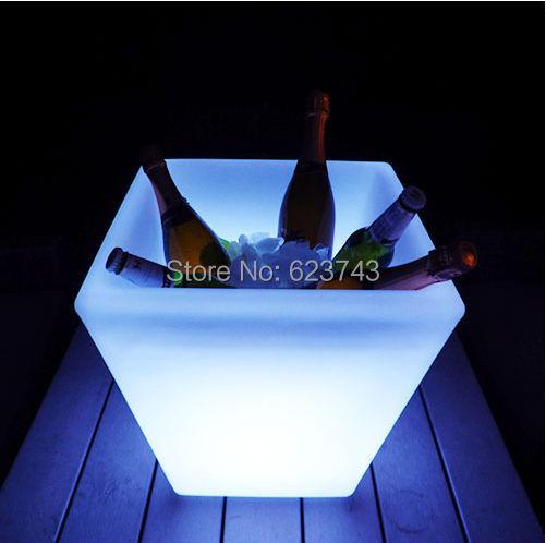 24Keys Remote Colorful illuminated LED Ice Bucket Square Waterproof,PP glow Led flower Plant SLIDE Y-Pot LIGHT WIRELESS BATTERY