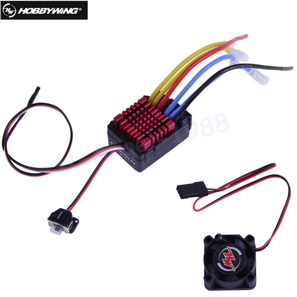 все цены на  1pcs Original Hobbywing QuicRun Dual Brushed Waterproof 60A ESC For 1:8 RC Car Wholesale  онлайн