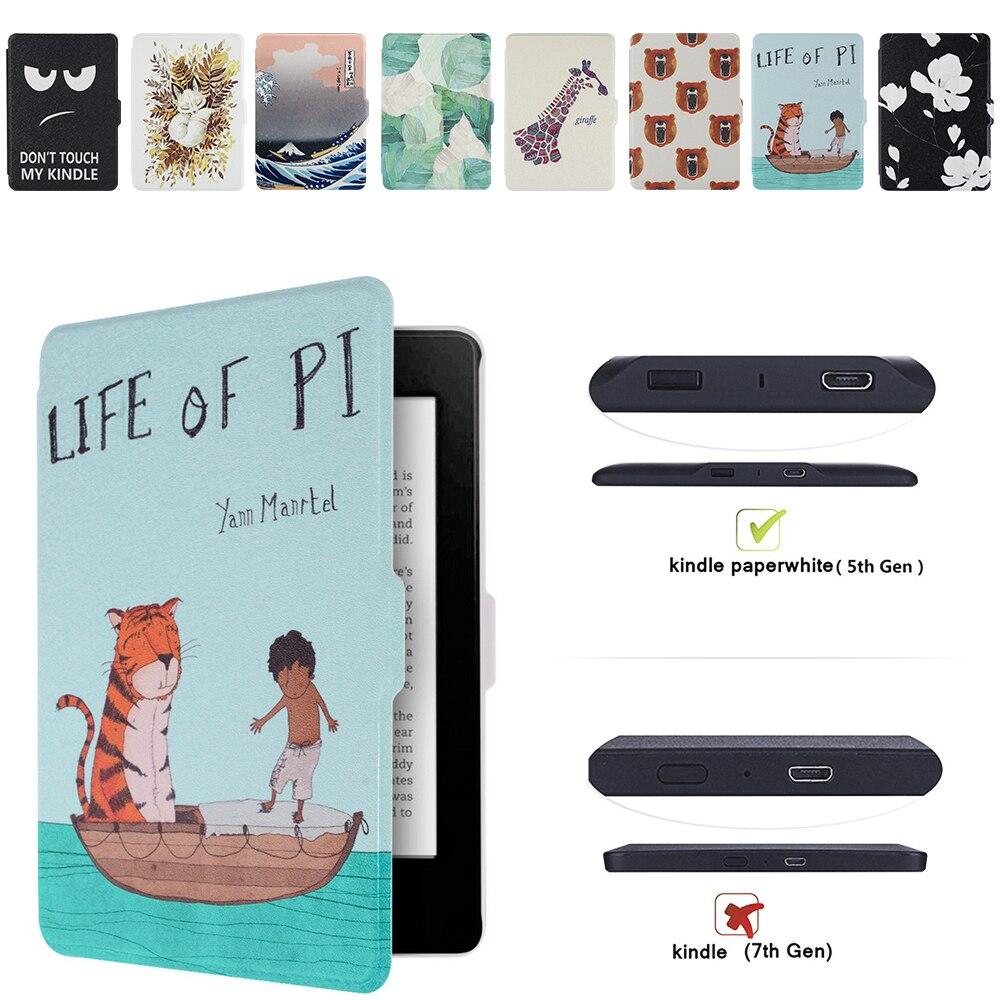 Caso elegante para Amazon Kindle Paperwhite 1 2 3 eReader cubierta para Kindle Paperwhite con Auto Wake/Sleep 6 pulgadas