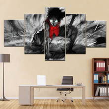 Home Decor Abstract Poster Frame Kids Room HD Print 5 Panel Luffy Of One Piece Cartoon Modular Picture Wall Art Canvas Paintings(China)