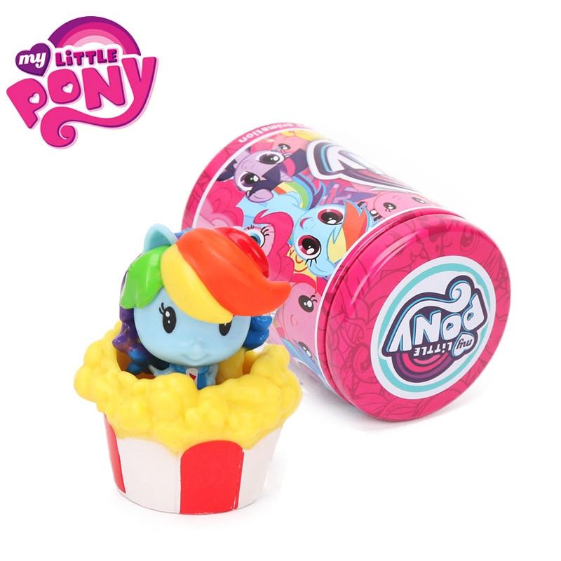 1pcs My Little Pony Toys Cutie Mark Crew Mini Pony Dolls Friendship Is Magic Rainbow Dash Twilight Sparkle Figure Christmas Gift