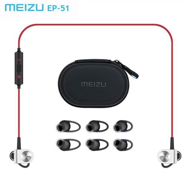 Original meizu ep51 deportes de bluetooth stereo headset auricular inalámbrico impermeable apt-x cancelación de ruido con micrófono aleación de aluminio
