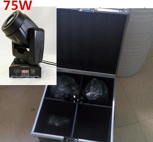 4pcs/lot with flight case 75W Moving Head 3 Face PrisS pot Stage Lighting DMX Channel Hi-Quality Hot Sales Prism