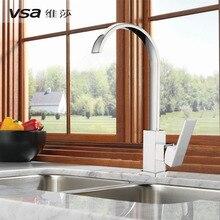 Weisha для ванной может вращаться водопад потока керамической основной клапан Одной ручкой одно отверстие смеситель для кухни