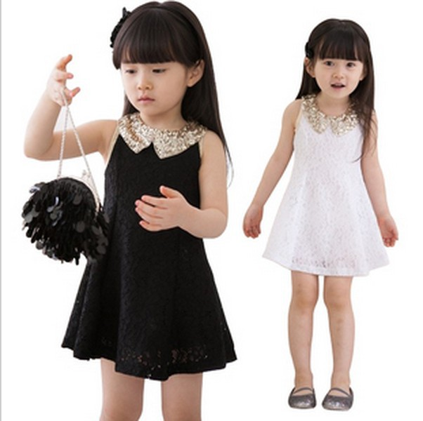 67654abd014 Hot Sale 2015 Summer New Children Clothing Baby Girls Clothes Girl Kids  Tutu Dress child Children Dress Black/White Free Ship